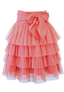 coral.quenalbertini: Sugar Coral Tulle Party Skirt