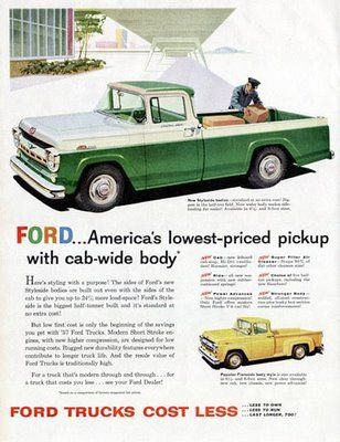 We Love Ford's, Past, Present And Future.: Vintage Ford Truck's Print Ads