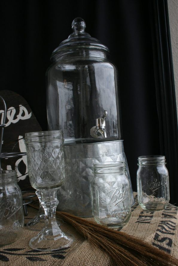 Galvanized And Glass Drink Dispenser – Props-for-hire #serveware #rustic #galvanized #drinkdispenser #beveragebuffet #eventrentals #weddingplanning #partyideas