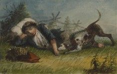 Beggar Boy and His Dog Alfred Jacob Miller