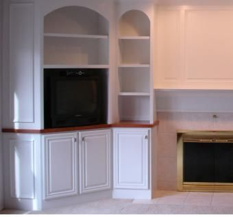 Built In With Arches And Corner Cabinet By Ron Combs