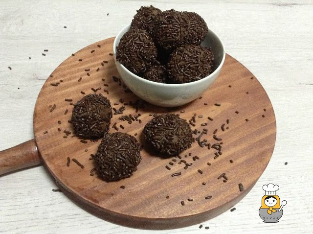Trufas de chocolate y castañas - Vuelta y Vuelta