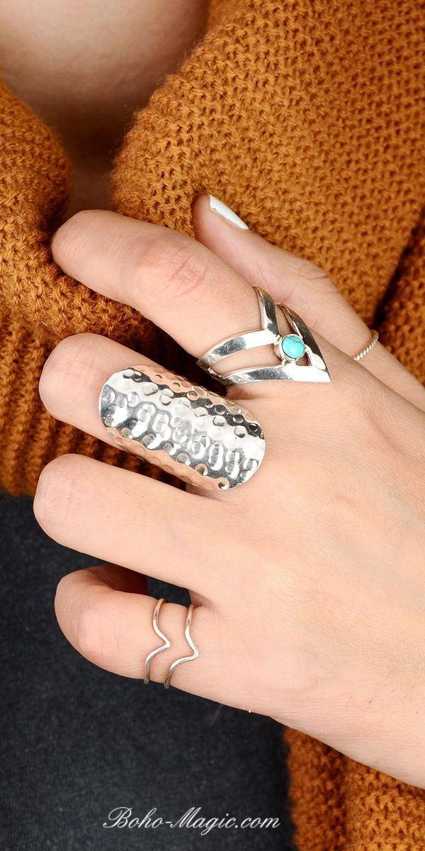 knuckle geometric ring hammered jewelry architectural wide band finger ring Pinky silver square ring gift for her under 25