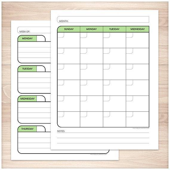 blank calendar weekly