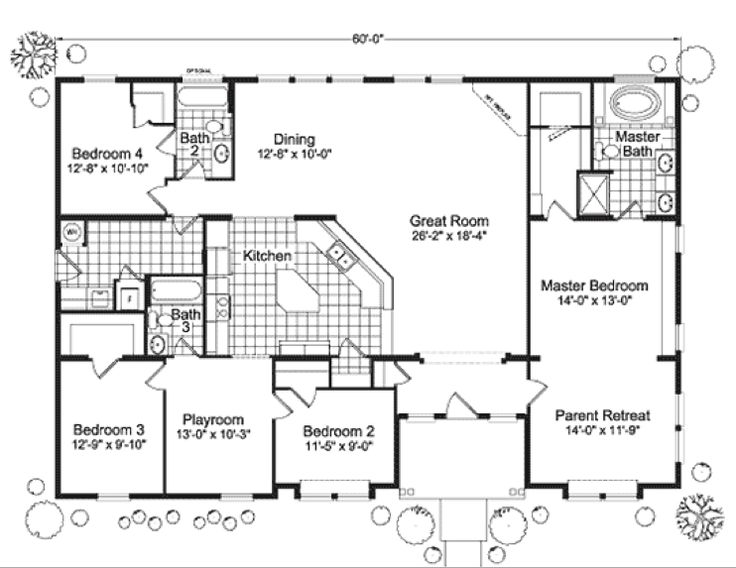 modular home floor plans 4 bedrooms | Fuller Modular Homes - Timber Ridge Modular Home Floor Plan