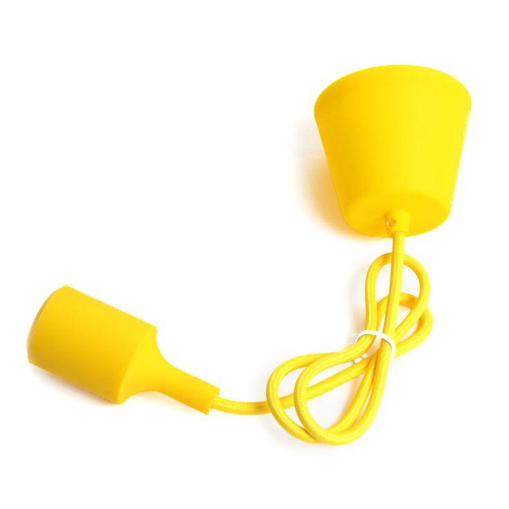 Comprar   Colgante lámpara silicona amarilla   Lámparas Acabadas  #handmade #accesorioslamparas #accesoriosiluminacion #fabricartulampara #comprarlamparas