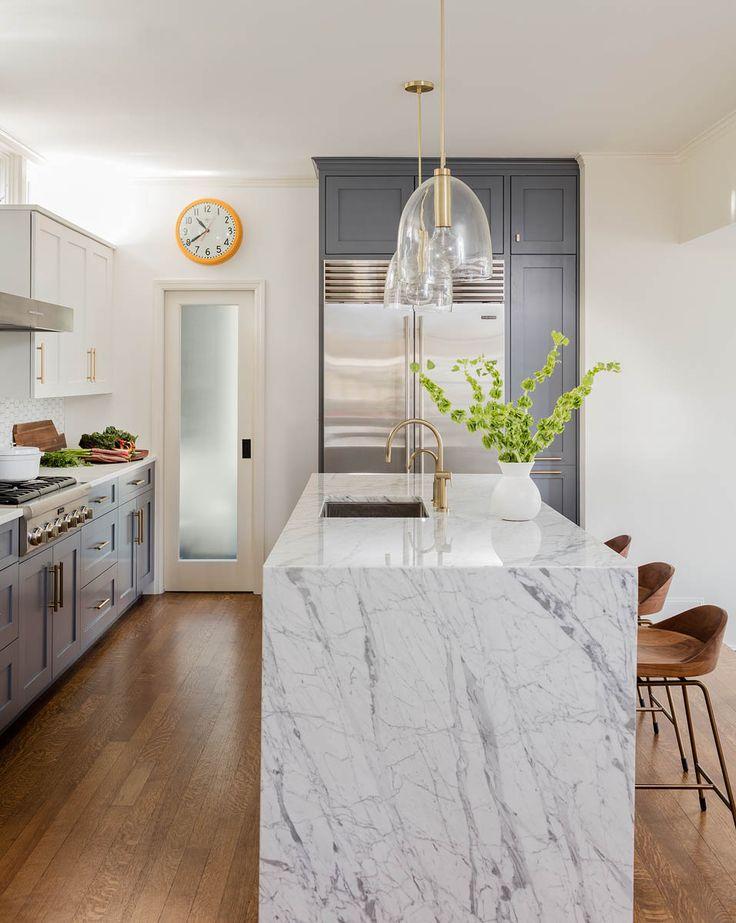 Best 25+ Waterfall countertop ideas on Pinterest Marble kitchen - how to design kitchen