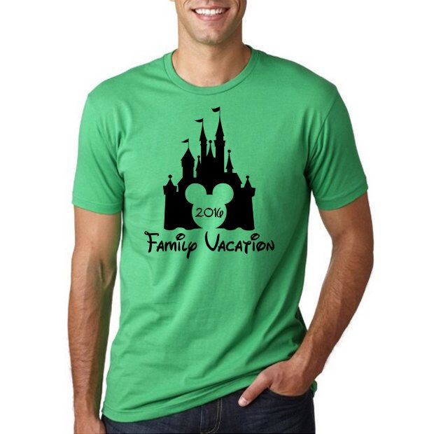 "Disney's ""Family Vacation 2016"" Shirt // Disney Family Vacation Shirts // Men's Disney Shirt // Plus Size Disney // Family Shirts // Castle by HimAndGem on Etsy https://www.etsy.com/listing/258445289/disneys-family-vacation-2016-shirt"