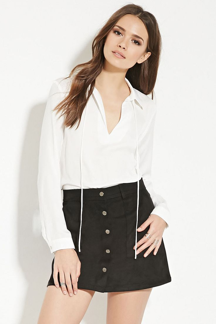 Contemporary Satin Blouse - Flash Sale - 2000151815 - Forever 21 EU English