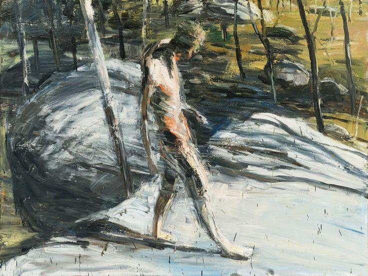 blastedheath: Euan MacLeod (New Zealand/Australian, b. 1956), Figure in Moonbi Landscape, 1991. Oil on canvas, 138 x 183 cm.