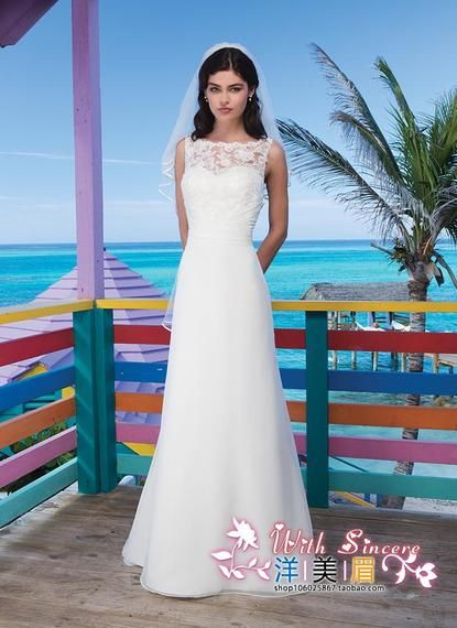2017 summer and autumn fashion new was thin shoulderless sleeveless lace small group can be customized small tail wedding dress