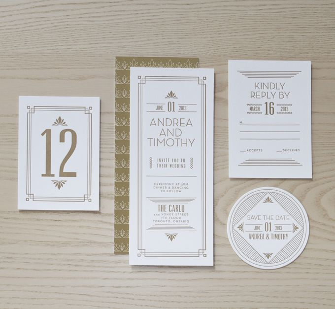 Tartine Paperie Gatsby collection