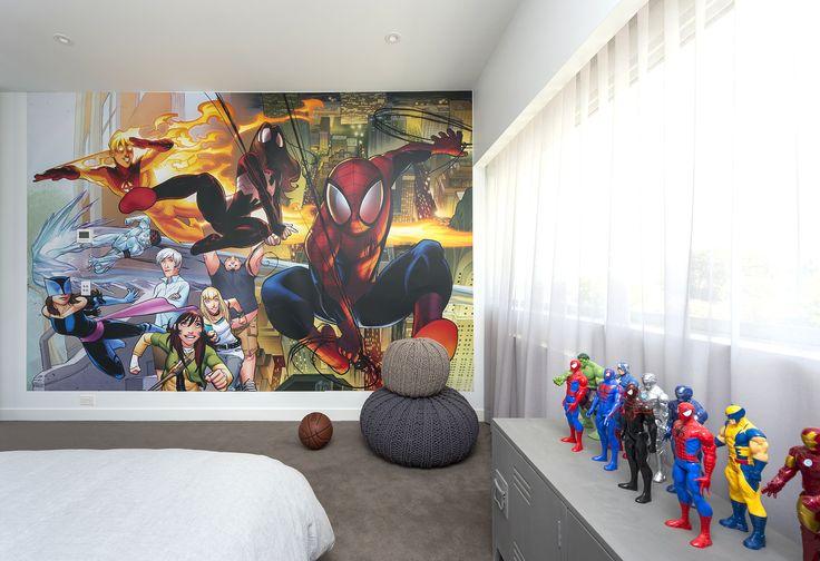 Black Rock, boys room, super heroes