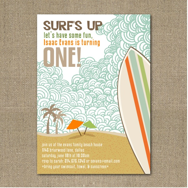 Paperbox Press Parties: Surfer Dude First Birthday {Feature Party}