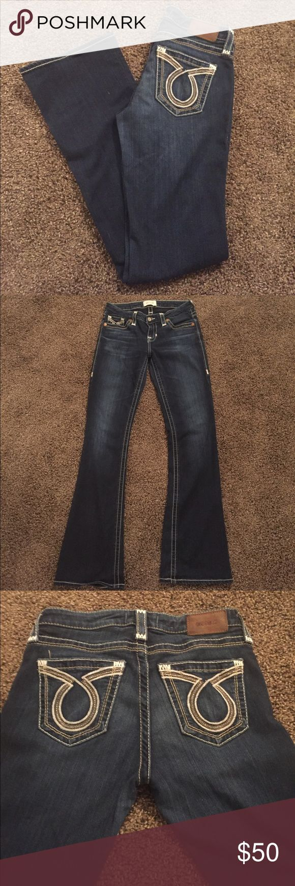 Big Star bootcut jeans These big star jeans are so comfy and are in amazing condition! They are the style liv bootcut and are a dark wash. Big Star Jeans Boot Cut