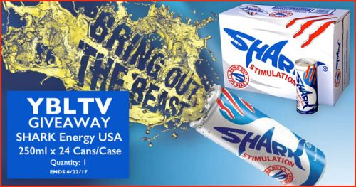 SHARK Energy Drink 24 Pack Giveaway - 6/22/17 {US CA} via... IFTTT reddit giveaways freebies contests