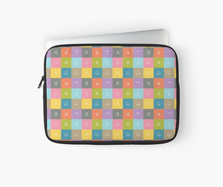Emoji Emoticon Pattern Illustration by Gordon White   Emoji Macbook Laptop Sleeve Available in 3 Sizes @redbubble --------------------------- #redbubble #emoji #emoticon #smiley #faces #cute #addorable #pattern #laptop #sleeve #macbook