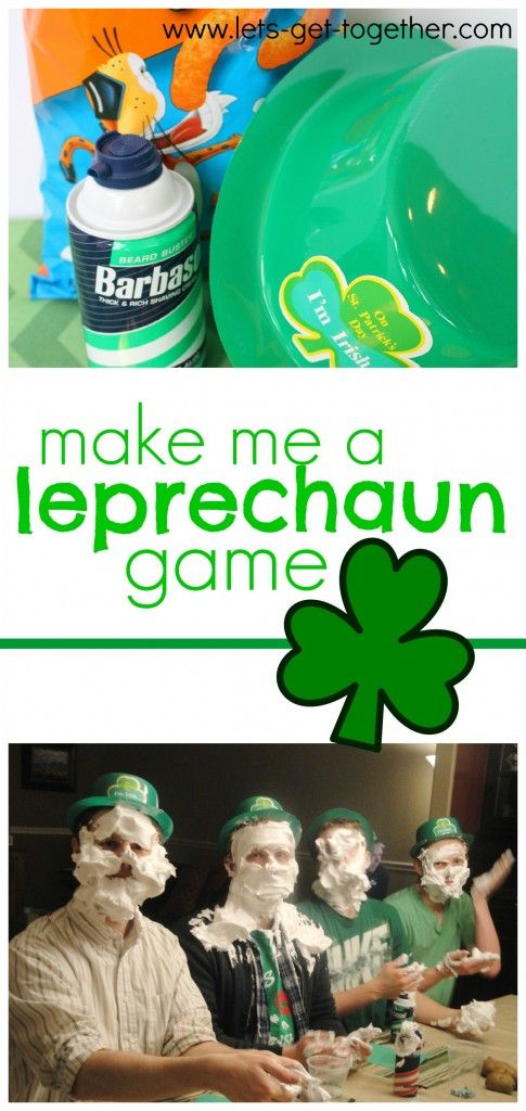 Make Me a Leprechaun Game from Let's Get Together-one of several fun and simple games for St. Patrick's Day. This one sounds hilarious! www.lets-get-together.com #stpatricksday #familyfun