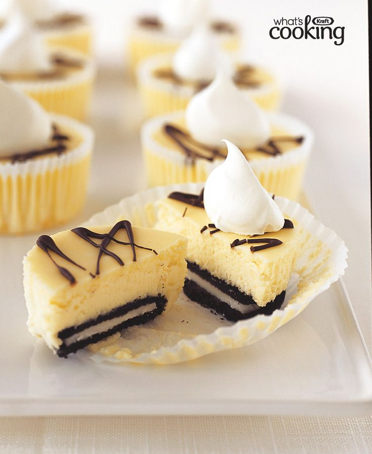 OREO Mini Cheesecakes #recipe