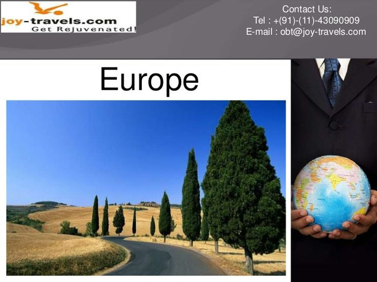 Europe Holiday  Packages | Europe Sightseeing City Tours Package | Europe trip at joy travels by joy travel via slideshare