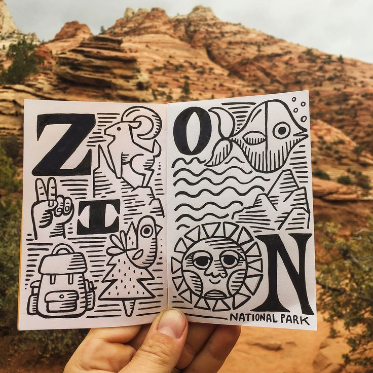 SUNday SUN No. 130 by Tad Carpenter Made whilef hiking Zion National Park in Utah.
