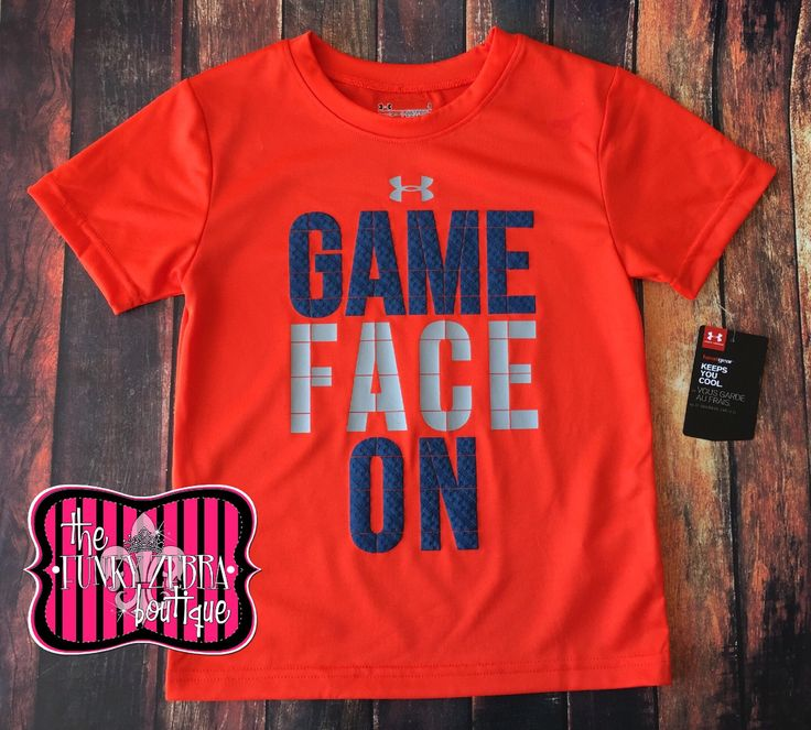 Under Armour Boys Game Face On Orange Tee Size 2T-7