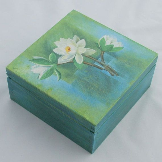 Wooden box 'The flowers', $14