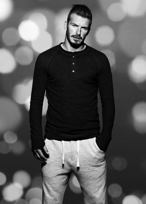 David Beckham. Casual wear spot on.