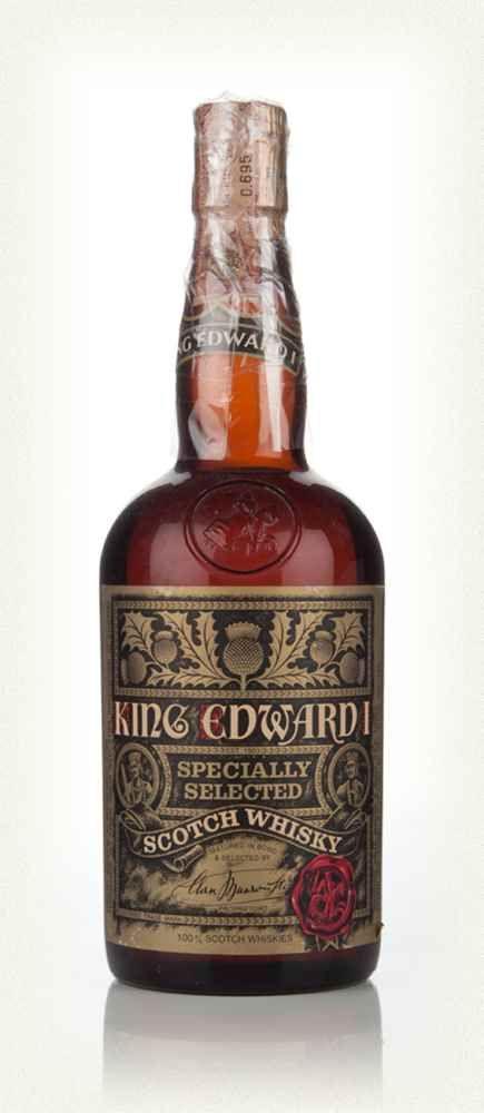 Le roi Edward I Blended Whisky Scotch - Années 1970