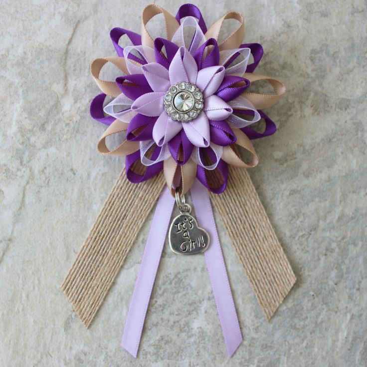 Rustic Baby Shower Decorations Rustic Baby Girl Shower Rustic Baby Shower Decor Purple Lavender Burlap Baby Shower Pin Rustic Corsage