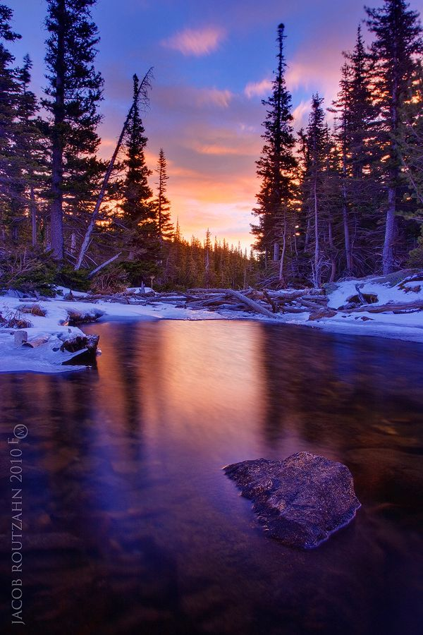 Flowing Colors Of Dream Lake Rocky Mountain National