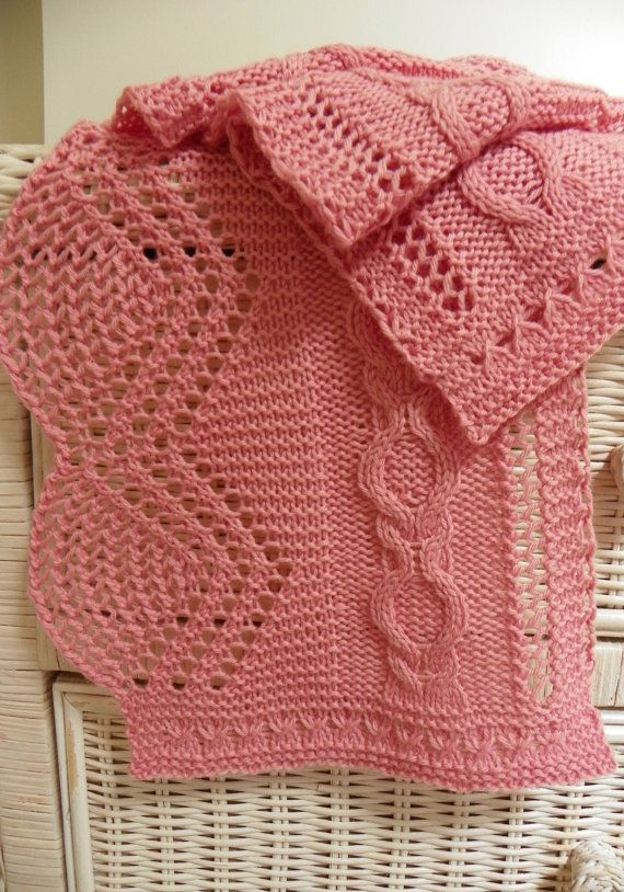 Pattern to Knit Lace Scarf Cherry Blossoms  by suelillycreations, $3.75
