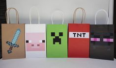 Minecraft Party Favors - Minecraft Party decoration Ideas - minecraft goodie bags
