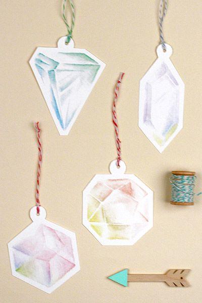 Printable Holiday Gemstone Gift Tags! / www.lovevsdesign.com