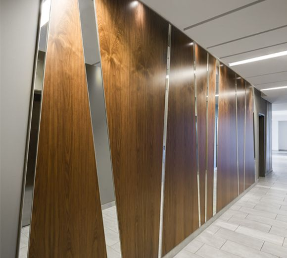 POINTE-NORD | Montreal | Architecture | Interior Design | Evolo 2 | Residential | Hall | Wood | Mirror