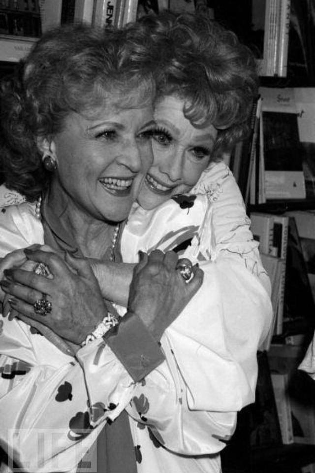 Lucille Ball and Betty White - this picture is as epic as it gets folks - two amazing women!