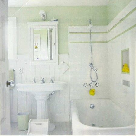 Pale Green Plus Navy For A Nautical Themed Guest Bathroom. FINALLY! I Think  I