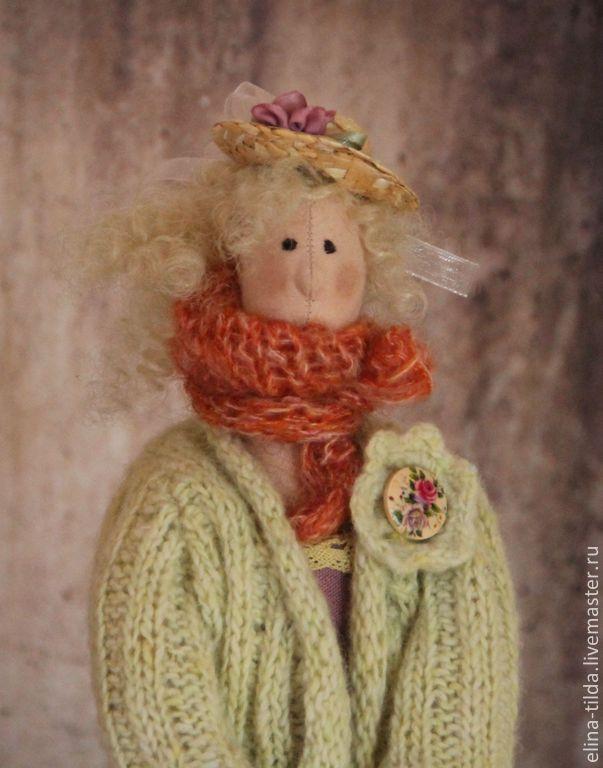 Купить Соседка мисс Марпл - разноцветный, лиловый, сиреневый, рыжий, Цветочная фея, садовница, сад