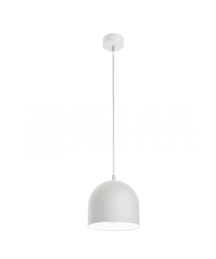 Białalampa metalowa MADISON. Białalampa MADISON z białym zawiesiem idealnie pasuje do wnętrz o charakterze industrialnym/skandynawskim. Jako jeden punkt świetlny będzie doskonała do zawieszenia nad stołem w jadalni albo salonie.