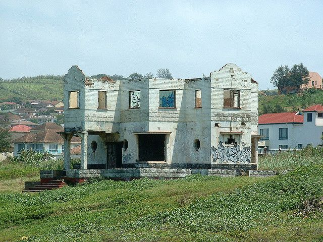 abandoned house, north of Durban, South Africa