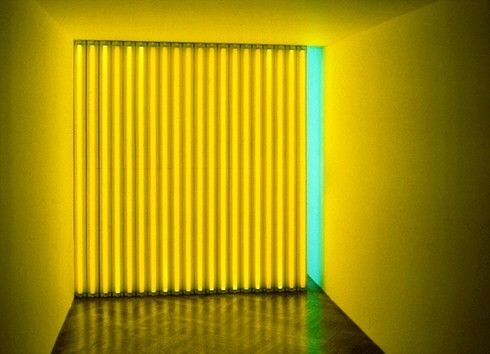 Untitled, Dan Flavin | 1972–73. Yellow and green fluorescent light, edition 1/3, 8 ft. (244 cm) high, in a corridor measuring 8 ft. (244 cm) high hand 8 ft. (244 cm) wide; length variable. Solomon R. Guggenheim Museum, New York,Panza Collection