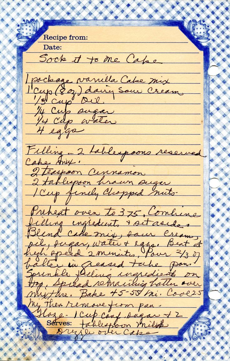 recipe sock it to me cake bluesheet