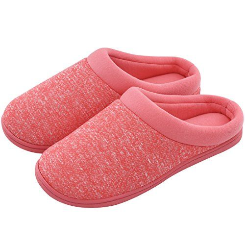 bd0a49abab49 Women s Comfort Slip On Memory Foam Slippers French Terry Lining House  Slippers w Anti Slip Sole