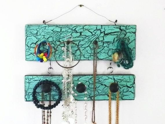 Crackled 2-Tier Jewelry Holder & Organizer by CountryChicShoppe