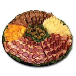 pictures of deli meat and cheese trays