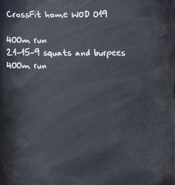 CrossFit WOD - no equipment required