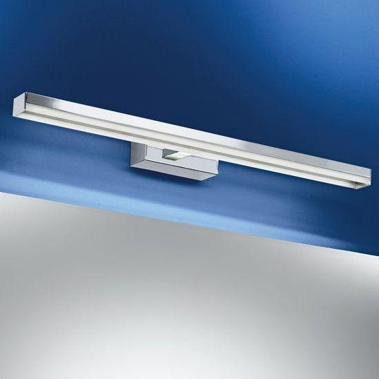 Απλίκα τοίχου φωτιστικό μπάνιου με βάση από ατσάλι σε χρώμιο και πλαστικό γυαλί λευκό. HAKANA από την Eglo. ----------------------------------------- Wall-mounted bathroom fitting with steel base in chrome and plastic glass white. #bathroom #bathroomideas #bathroomdesign #bathroomgoals #decoratingideas #lighting #makeup #makeuplight