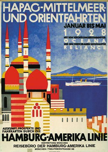 Hamburg-Amerika Linie - Mittelmeer und orientfahrten - 1928 - (Max Sommer) -