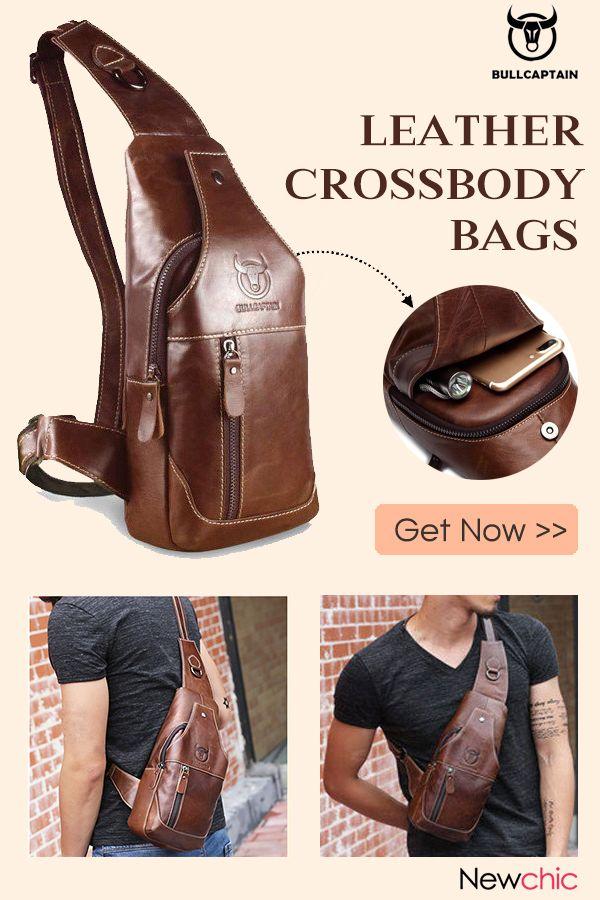 b1814cd7cf0b  49% Off Men Genuine Leather Business Casual Chest Bags Shoulder Crossbody  Bag.  men  style  crossbodybag