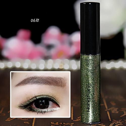 8 Colors Hot Sale Waterproof Eyeliner Liquid Make Up Beautiful Eye Liner Glitter Shimmer Shiny Makeup